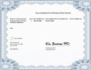Existing Students Online Course Certificates